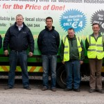 Some of the Oxigen Westmeath team: - Declan Hynes, Customer Service Representative, Pat Nagle, Steven Corroon, Customer Service Representative, Pat  Keena, Driver, Ronan Keegan, Driver and Brendan Keane, Waste Collector.